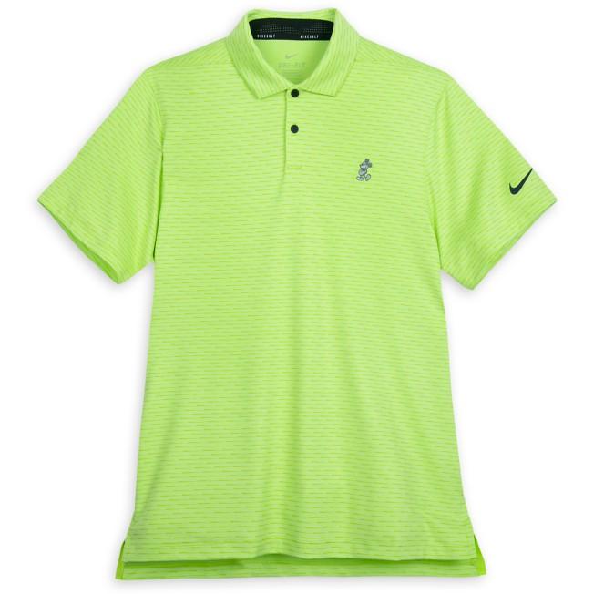Mickey Mouse Performance Polo Shirt for Men by Nike – Green Stripe
