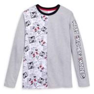 Mickey and Minnie Mouse Newsprint Long Sleeve T-Shirt for Adults – Walt Disney World