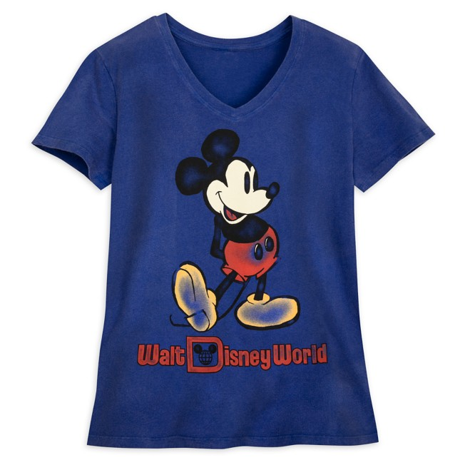 Mickey Mouse V-Neck T-Shirt for Women – Walt Disney World – Navy