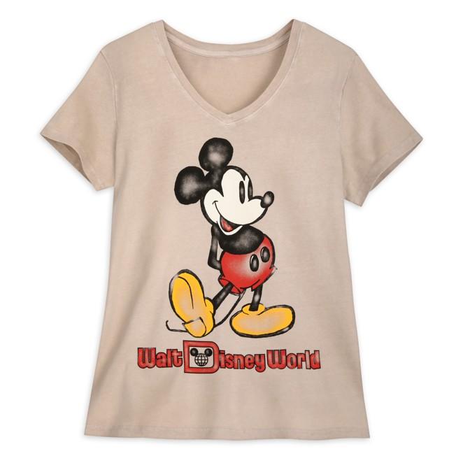 Mickey Mouse V-Neck T-Shirt for Women – Walt Disney World – Oatmeal