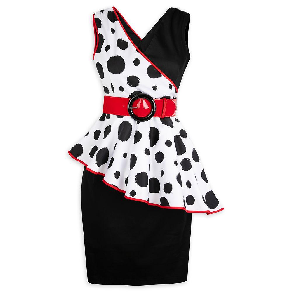 Cruella De Vil Cocktail Dress for Adults  101 Dalmatians Official shopDisney