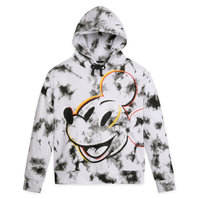 Mickey Mouse Tie-Dye Pullover Hoodie for Adults – Walt Disney World – Black