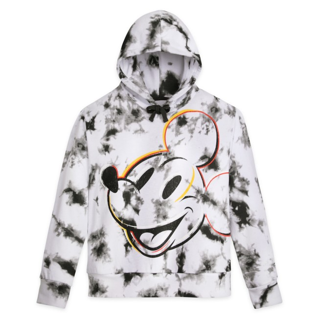 Mickey Mouse Tie-Dye Pullover Hoodie for Adults – Disneyland – Black