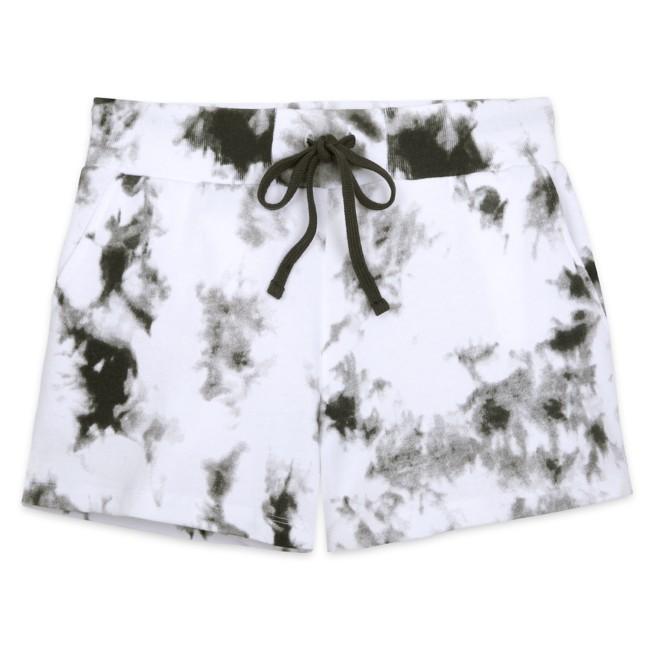 Walt Disney World Tie-Dye Shorts for Adults – Black