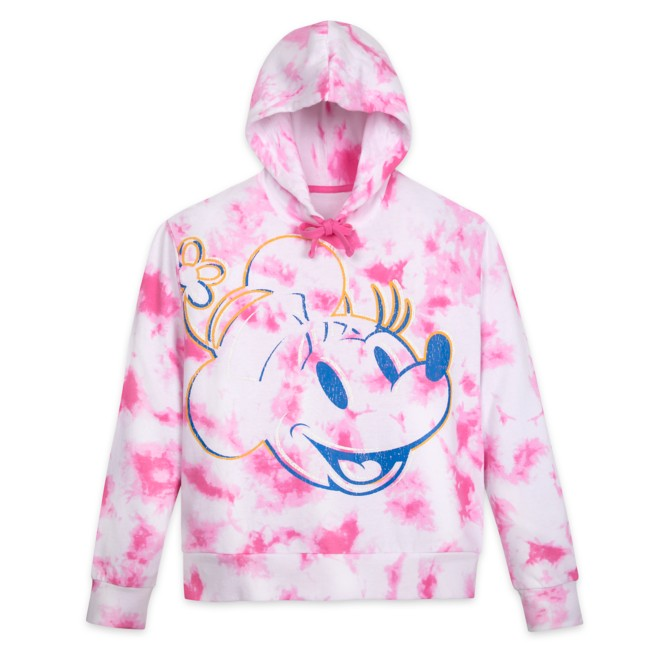 Minnie Mouse Tie Dye Pullover Hoodie for Adults – Walt Disney World –Pink