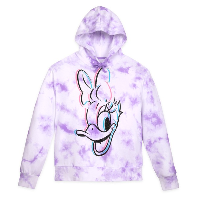 Daisy Duck Tie-Dye Pullover Hoodie for Adults – Disneyland – Lavender