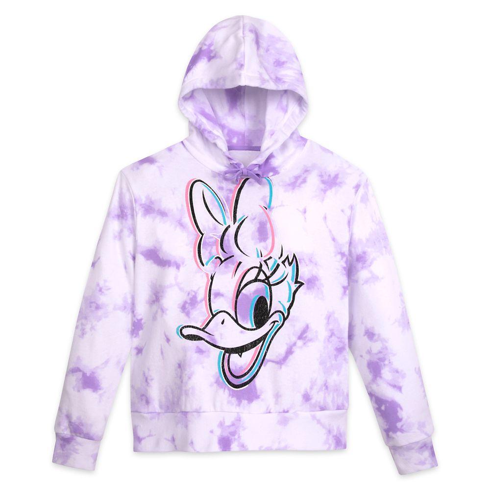 Daisy Duck Tie Dye Pullover Hoodie for Adults – Walt Disney World – Lavender