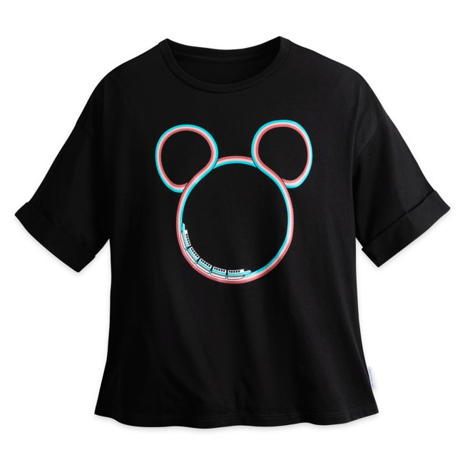 Monorail Mickey Mouse Icon T-Shirt for Adults by Her Universe