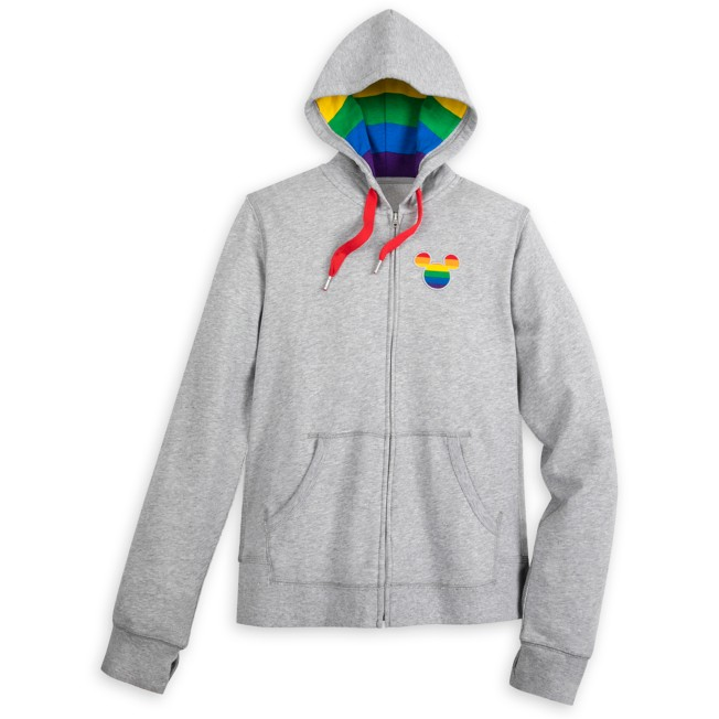 Mickey Mouse Zip-Up Hoodie for Adults – Rainbow Disney Collection