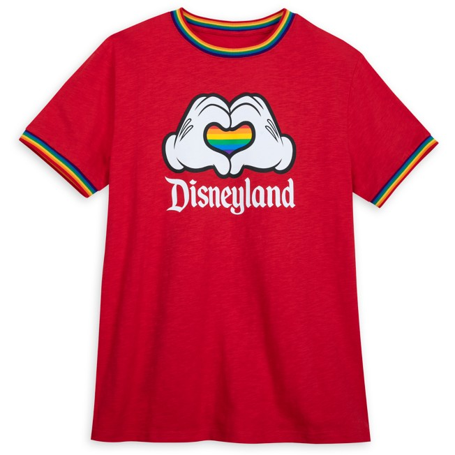 Mickey Mouse Heart Hands Ringer T-Shirt for Adults – Disneyland – Rainbow Disney Collection