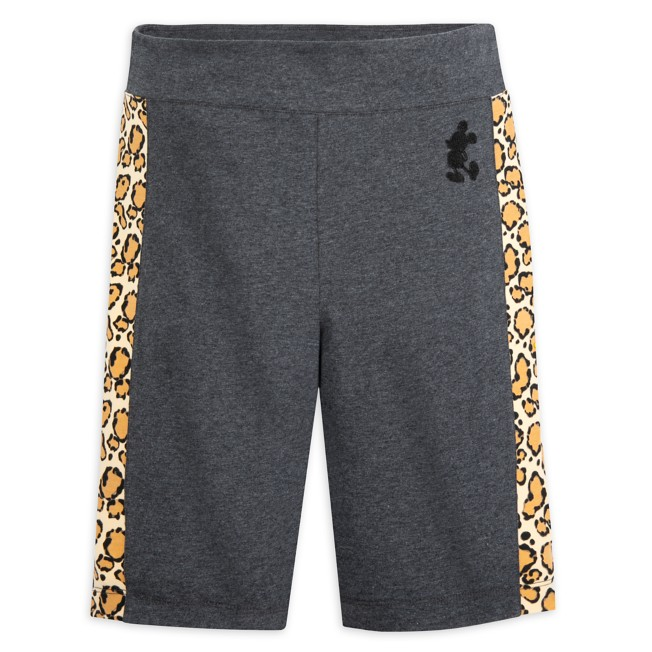 Mickey Mouse Animal Print Bike Shorts for Adults