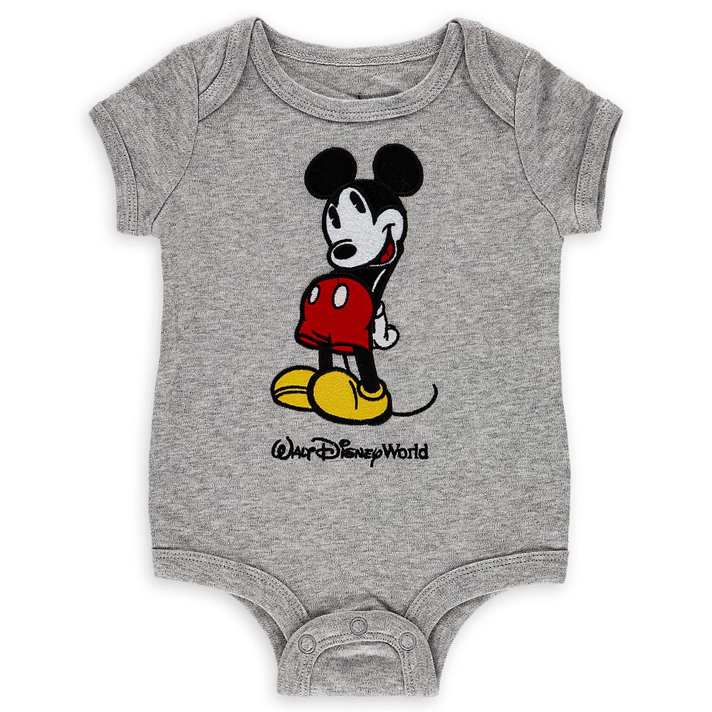 Mickey Mouse Bodysuit for Baby  Walt Disney World  Gray
