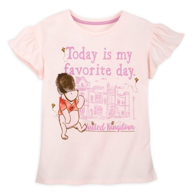 Winnie the Pooh Classic Wing Sleeve T-Shirt for Girls – Epcot