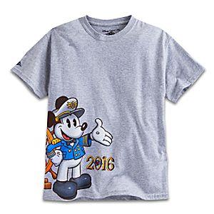 Captain Mickey Mouse Tee for Boys - Disney Cruise Line 2016