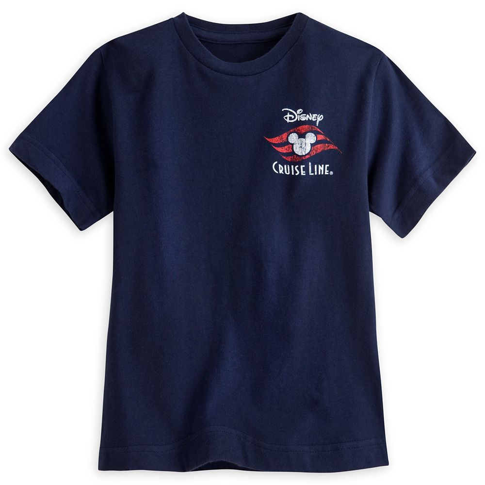 Disney Cruise Line Logo Tee for Boys  Blue