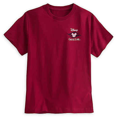 Disney Cruise Line Logo Tee for Boys - Red