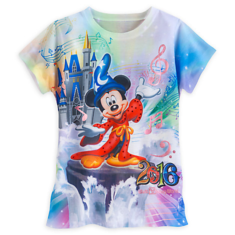 Sorcerer Mickey Mouse and Friends Sublimated Tee for Girls - Walt Disney World 2016