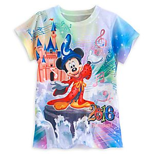 Sorcerer Mickey Mouse and Friends Sublimated Tee for Girls - Disneyland 2016