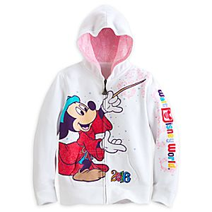 Sorcerer Mickey Mouse and Friends Zip Hoodie for Girls - Walt Disney World 2016