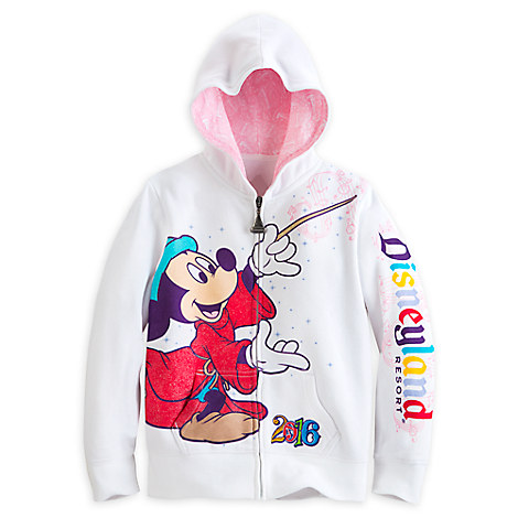 Sorcerer Mickey Mouse and Friends Zip Hoodie for Girls - Disneyland 2016