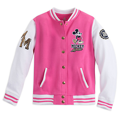 Mickey Mouse Varsity Jacket for Girls - Walt Disney World