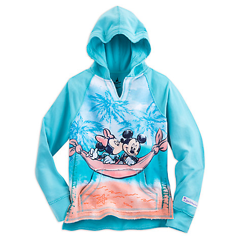 Mickey and Minnie Mouse Pullover Hoodie for Girls - Walt Disney World - Blue