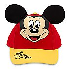 Mickey Mouse Baseball Cap for Kids - Red/Gold