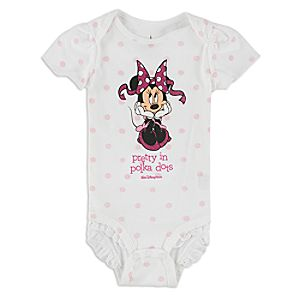 Minnie Mouse Pretty Polka Bodysuit for Baby - Walt Disney World