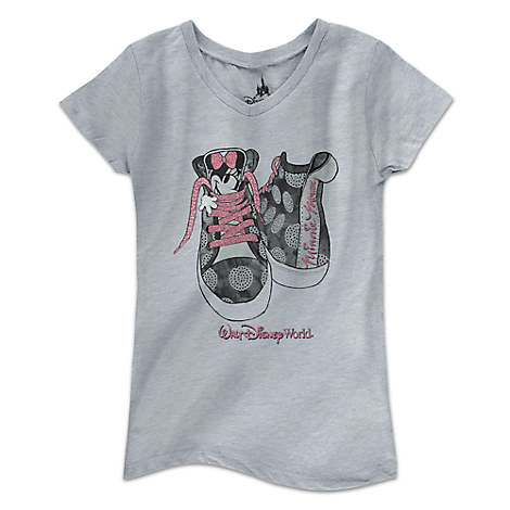 Minnie Mouse Sneakers Tee for Girls - Walt Disney World