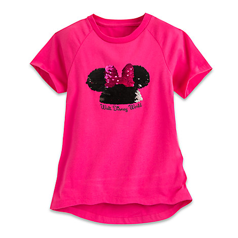 Minnie Mouse Sequined Mouseketeer Ear Hat Tee for Girls