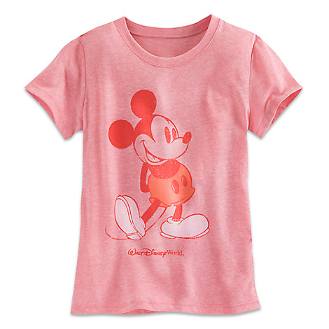 Mickey Mouse Tee for Girls - Coral - Walt Disney World