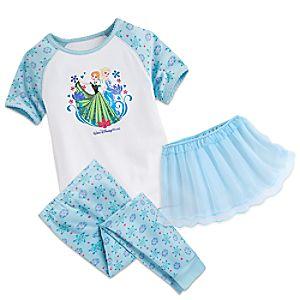 Anna and Elsa Three-Piece Pajama Set for Girls – Walt Disney World