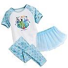 Anna and Elsa Three-Piece Pajama Set for Girls - Walt Disney World