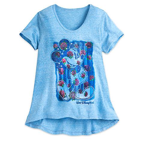 Minnie Mouse Giltter Flag Tee for Girls - Walt Disney World