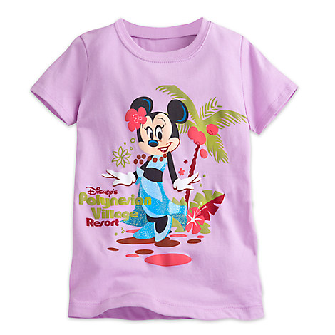 Minnie Mouse Tee for Girls - Disney's Polynesian Village Resort - Walt Disney World