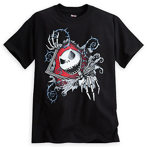 Jack Skellington Puffy Ink Tee for Boys