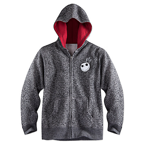 Jack Skellington Heathered Zip Hoodie for Boys