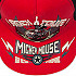 Mickey Mouse Rock 'n Roller Coaster Baseball Cap for Kids - Red and Black
