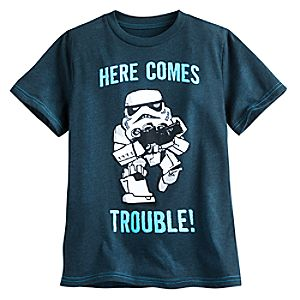 Stormtrooper Here Comes Trouble Tee for Boys - Star Wars