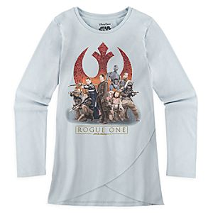 Rogue One: A Star Wars Story Rebel Forces Long Sleeve Tee for Girls