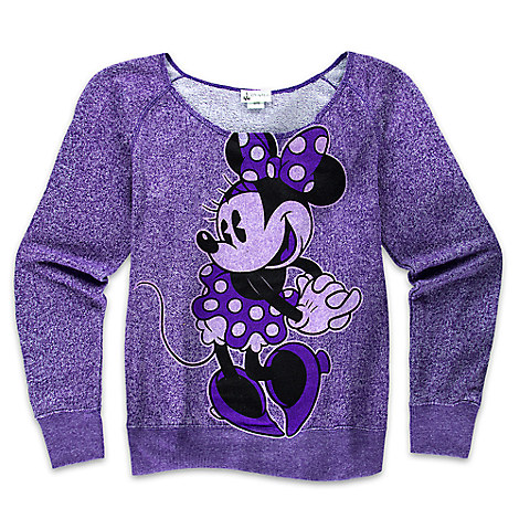 Minnie Mouse Scoop Neck Top for Women - Purple