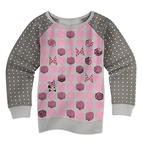 Minnie Mouse Long Sleeve Pullover Top for Girls