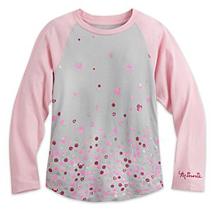 Minnie Mouse Raglan Long Sleeve Tee for Girls