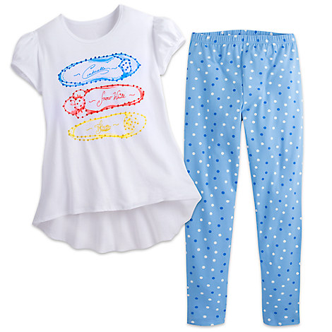 Disney Princess Top and Leggings Set for Girls