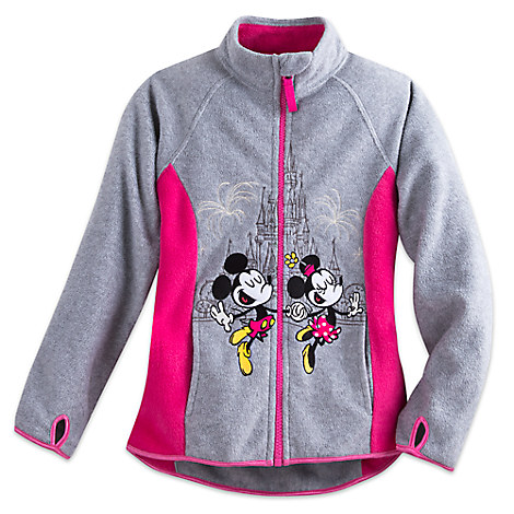 Mickey and Minnie Mouse Fleece Jacket for Girls - Walt Disney World
