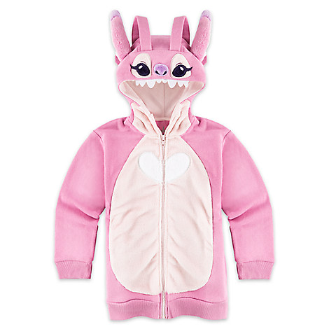 Angel Costume Fleece Hoodie for Girls