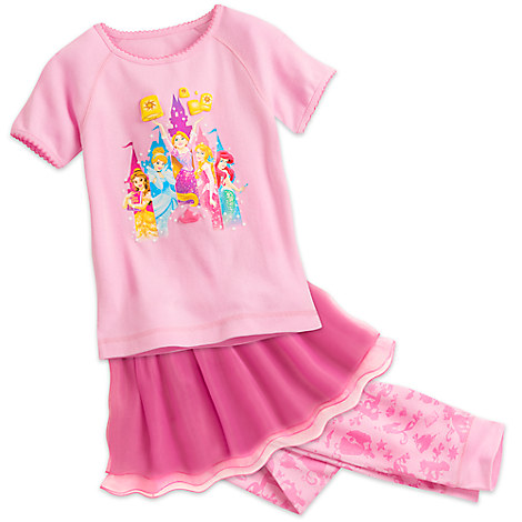 Disney Princess Three-Piece Pajama Set for Girls - Walt Disney World