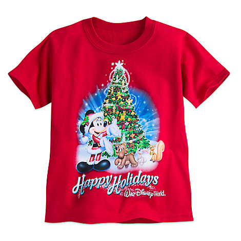 Santa Mickey Mouse and Friends Tee for Toddlers - Walt Disney World