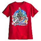 Santa Mickey Mouse and Friends Holiday Tee for Boys - Walt Disney World