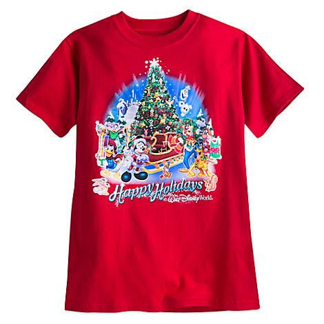 Santa Mickey Mouse and Friends Holiday Tee for Boys - Walt Disney World